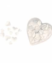 Satijnen hart strooiblaadjes wit trend