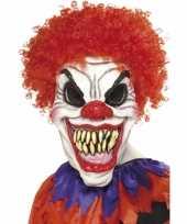 Scary clown masker met haren trend