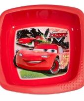Schaaltje rood met plaatjes van cars 16 cm trend