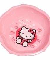 Schaaltje roze met plaatjes van hello kitty 16 cm trend