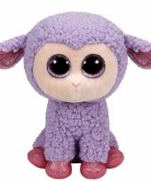 Schaap lam ty beanie knuffel lavender 24 cm trend