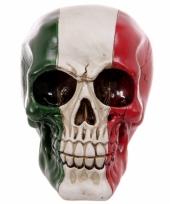 Schedel italiaanse vlag opdruk trend