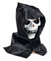 Schedel masker met capuchon trend