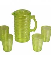 Schenkkanset van hard groen plastic trend