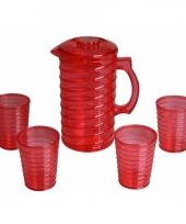 Schenkkanset van hard rood plastic trend