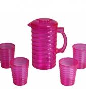 Schenkkanset van hard roze plastic trend