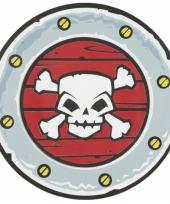 Schild met doodshoofd piraten trend
