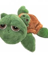 Schildpad knuffels met baby 24 cm trend