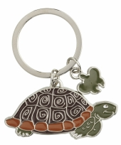 Schildpad sleutelhangers 5 cm trend