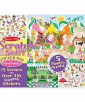 School stickers met bloemengeur voor meisjes trend