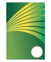 Schrift a6 formaat groene harde kaft trend
