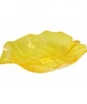 Serveer schaal geel 22 cm trend