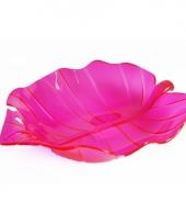 Serveer schaal roze 22 cm trend