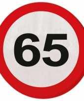 Servet 65 jaar verkeersbord trend