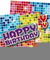 Servetjes voor verjaardag 16 stuks trend
