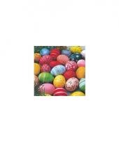 Servetten eieren multi color 20 stuks trend