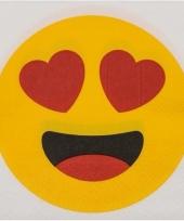 Servetten hartjesogen emoji 20 stuks trend