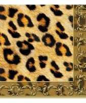 Servetten luipaard print 3 laags 20 stuks trend