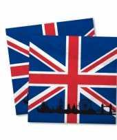 Servetten met de engelse vlag 20x trend