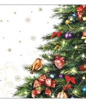 Servetten met kerstboom 20 stuks trend