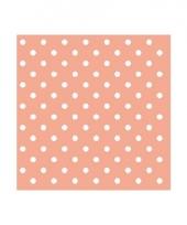 Servetten met stippen peach roze 3 laags 20 stuks trend