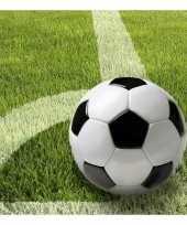Servetten met voetbal afbeelding 33 cm trend