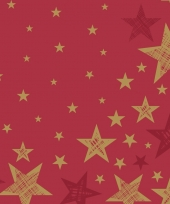 Servetten shining star red trend