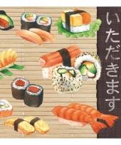Servetten sushi 3 laags 20 stuks trend