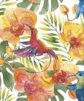 Servetten tropisch print 20 stuks trend