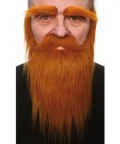 Set met baard snor en wenkbrauwen rood trend