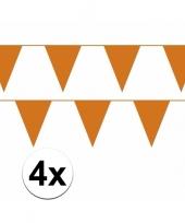 Set van 2 oranje slingers 10 meter trend 10100488