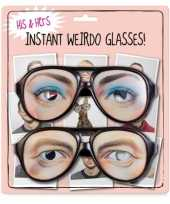 Set van twee nerd brillen trend