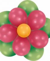 Setje bloem ballonnen groen fuchsia trend