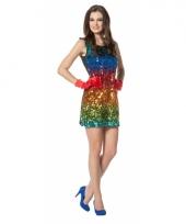 Sexy feestjurkje regenboog trend