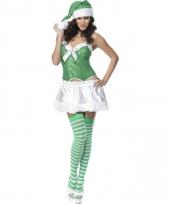 Sexy kostuum dames groen en wit trend