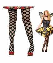 Sexy panty zwart met ronde gaten trend