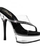 Sexy slipper pumps met steentjes trend