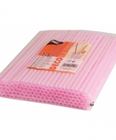 Shake rietjes roze 135 stuks 25cm trend