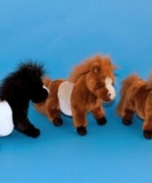 Shetlander pony knuffel bruin 36 cm trend
