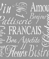 Sierlijke franse teksten schilderen trend