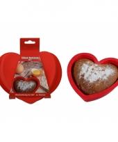 Silicone bakvorm hart 20 cm trend
