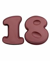 Siliconen bakvormen cijfer 18 trend