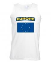 Singlet-shirt tanktop europese vlag wit heren trend