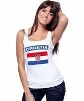 Singlet-shirt tanktop kroatische vlag wit dames trend