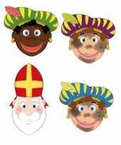 Sinterklaas 3x zwarte pieten sinterklaas maskers setje trend