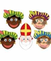 Sinterklaas 4x zwarte pieten sinterklaas maskers setje trend