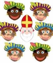Sinterklaas 6x zwarte pieten sinterklaas maskers setje trend