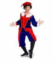 Sinterklaas dames pietenpak rood blauw medium trend
