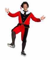 Sinterklaas dames pietenpak rood zwart grote maat trend