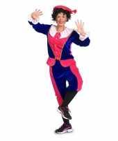 Sinterklaas dames pietenpak roze blauw small trend